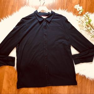 Boden | Collared Navy Button Up
